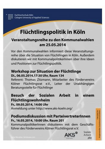 PlakatFlüchtlingspolitik
