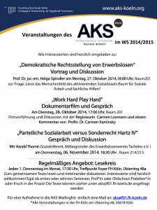 Plakat_Veranstaltungen des AKS WiSe14-15